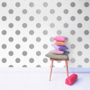 Graham & Brown Kids' Dotty Spot Silver Metallic Wallpaper