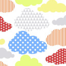 Superfresco Easy Kids' Marshmallow Brights Clouds Wallpaper