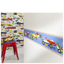 Superfresco Easy Kids' Pit Stop Cars Multi Wall Border