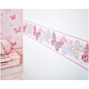 Graham & Brown Kids' Butterfly Pink/Multi Wall Border