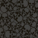 Barbara Hulanicki Black Skulls Flocked Wallpaper