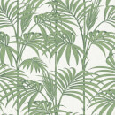Julien MacDonald Honolulu Glitter Metallic Palm Print Green Wallpaper
