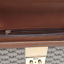 0a755c3b0bce4 MICHAEL MICHAEL KORS Women s Centre Stripe Cori Small Trunk Bag - Natural