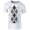 Men's Begbie Grey Pattern T-Shirt - White