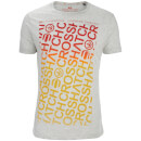 T-Shirt Homme Noremac Faded Logo Crosshatch -Gris Clair