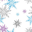 Disney Frozen Snowflake Purple/Blue Metallic Wallpaper