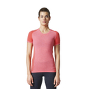 adidas Women's Primeknit Wool Running T-Shirt - Easy Coral