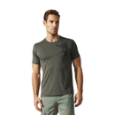 adidas Men's Freelift Tric T-Shirt - Utility Grey