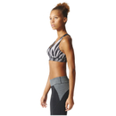 adidas Women's Climachill High Support Sports Bra - Black Print