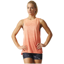 adidas Women's Boxy Melange Tank Top - Glow Orange