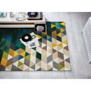 Flair Illusion Prism Rug - Green/Multi