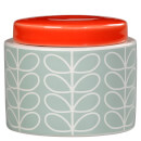 Orla Kiely Small Storage Jar - Duck Egg Blue