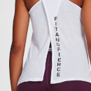 IdealFit Open Back Vest Tank Top - White