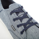 Crosshatch Men's Evacuate Trainers - Blue Chambray