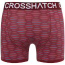 Crosshatch Men's 2 Pack Syntho Boxer Shorts - Barbados Cherry