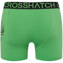 Crosshatch Men's 2 Pack Brookster Boxer Shorts - Classic Green