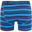 Crosshatch Men's 2 Pack Deckster Boxer Shorts - Malibu Blue