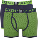 Lot de 2 Boxers Glowchex Crosshatch - Vert