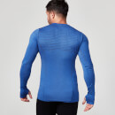 Seamless Long-Sleeve T-Shirt - XXL - Marineblau
