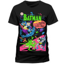 DC Comics Men's Batman Neon The Penguin Comic T-Shirt - Black