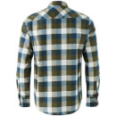 Brave Soul Men's Persuader Long Sleeve Check Shirt - Khaki