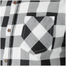 Brave Soul Men's Jack Long Sleeve Check Shirt - White