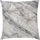 Marble Print Cushion - White Marbles
