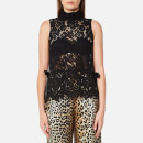 Ganni Women's Duval Lace Top - Black