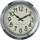 Fifty Five South Great London Wall Clock - Chrome Finish