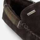 Barbour Men's Monty Suede Moccasin Slippers - Brown