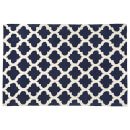 Fifty Five South Kensington Townhouse Cotton/Wool Mix Rug - Navy Blue/White