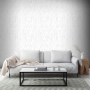 Superfresco Willamena Sprig Motif Glitter Wallpaper - Silver/White