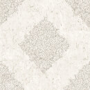 Boutique Cork Medallion Damask Metallic Wallpaper - Cream/Pale Gold