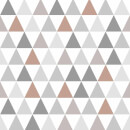 Superfresco Easy Tarek Geometric Wallpaper - Copper/Grey