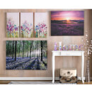 Art For The Home Lavender Sunset Printed Canvas Wall Art