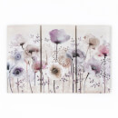 Art For The Home Classic Poppy Floral Trio Printed Canvas Wall Art