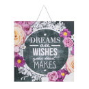 Art For The Home Chalkboard Dreams & Wishes Printed Canvas Wall Art