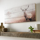 Graham & Brown Stag Wall Art Print On Wood