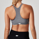 Classic Heartbeat Sports Bra - S - Grey Marl