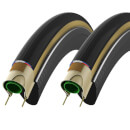 Vittoria Corsa G+ Clincher Tyre Twin Pack - Tan/Black - 700c x 23mm