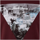 T-Shirt Homme Originals Arco Jack & Jones - Bordeaux