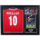 Dennis Bergkamp Signed and Framed Arsenal Shirt