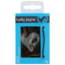 Lady Jayne Snagless Elastics Thin Brown18 Pack