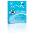 Waxaway By Caron Ready To Use Sensitive Wax Strips Facial 20Pk
