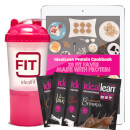 IdealLean x4 Protein Sample Packs, Free Shaker and 28 Protein Recipe e-Book