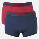 Levi's Men's 200SF 2-Pack Vintage Heather Trunks - Red/Navy