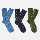 Barbour Men's Dog Motif Sock Gift Box - Multi