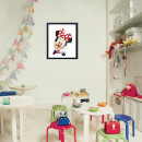 Disney Minnie Mouse Pixels Framed Printed Wall Art