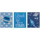 Premier Housewares Kids Reach For The Stars Wall Plaques (Set of 3)