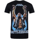 WWE Men's Stone Cold Rattlesnake T-Shirt - Black
